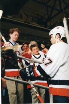 In 2002 with Islanders captain Michael Peca