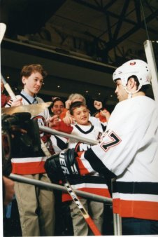 In 2002 with Islanders captain Michael Peca