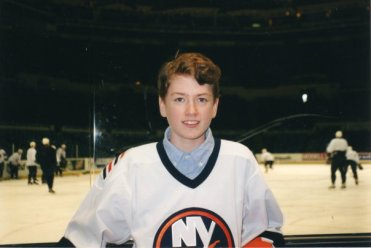 At the Coliseum during Islanders Practice - March 2002